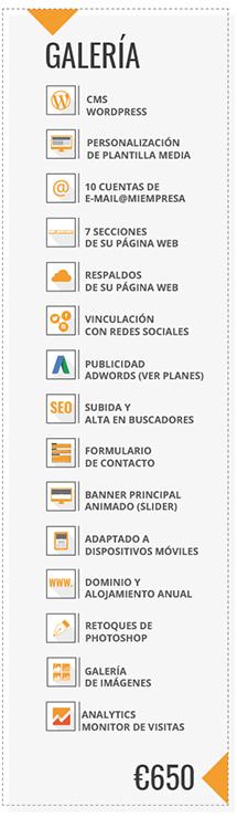 PAGINA WEB GALERIA